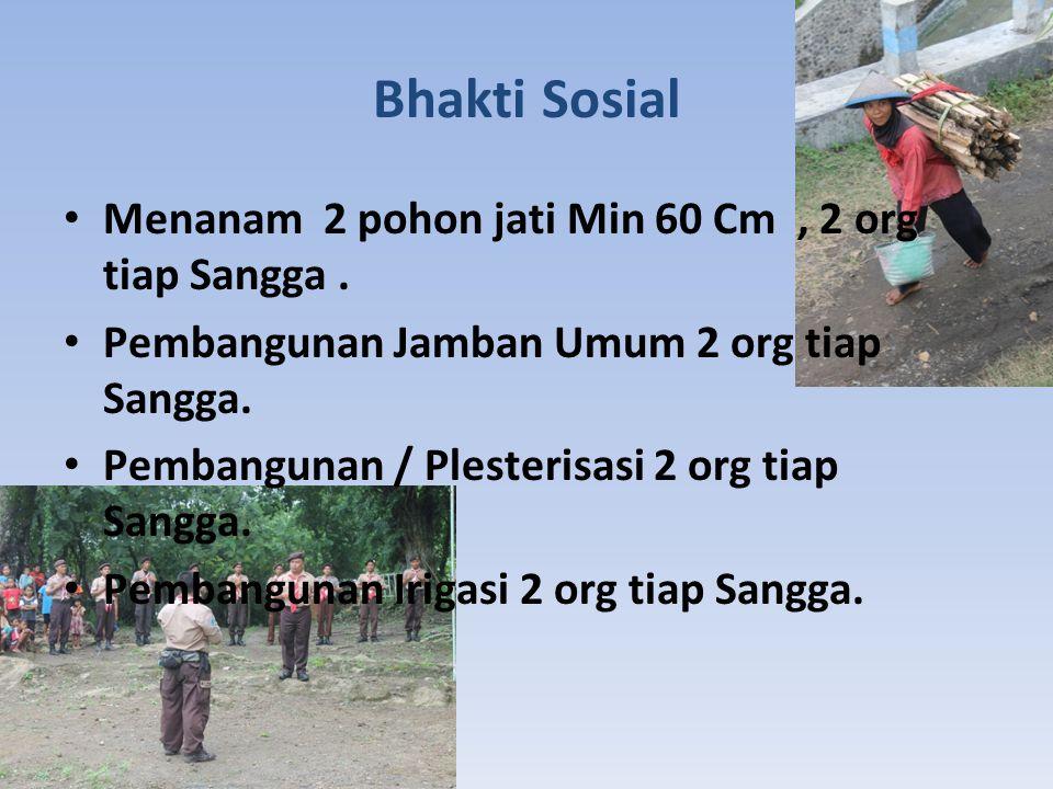 Bhakti Sosial Menanam 2 pohon jati Min 60 Cm , 2 org tiap Sangga .
