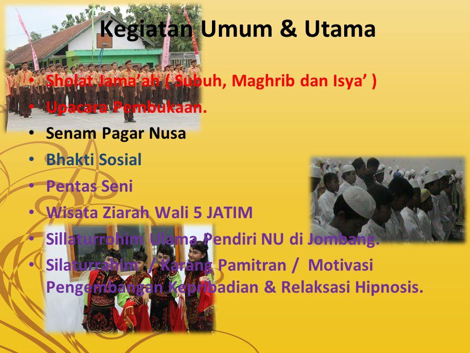 Kegiatan Umum & Utama Sholat Jama'ah ( Subuh, Maghrib dan Isya' )