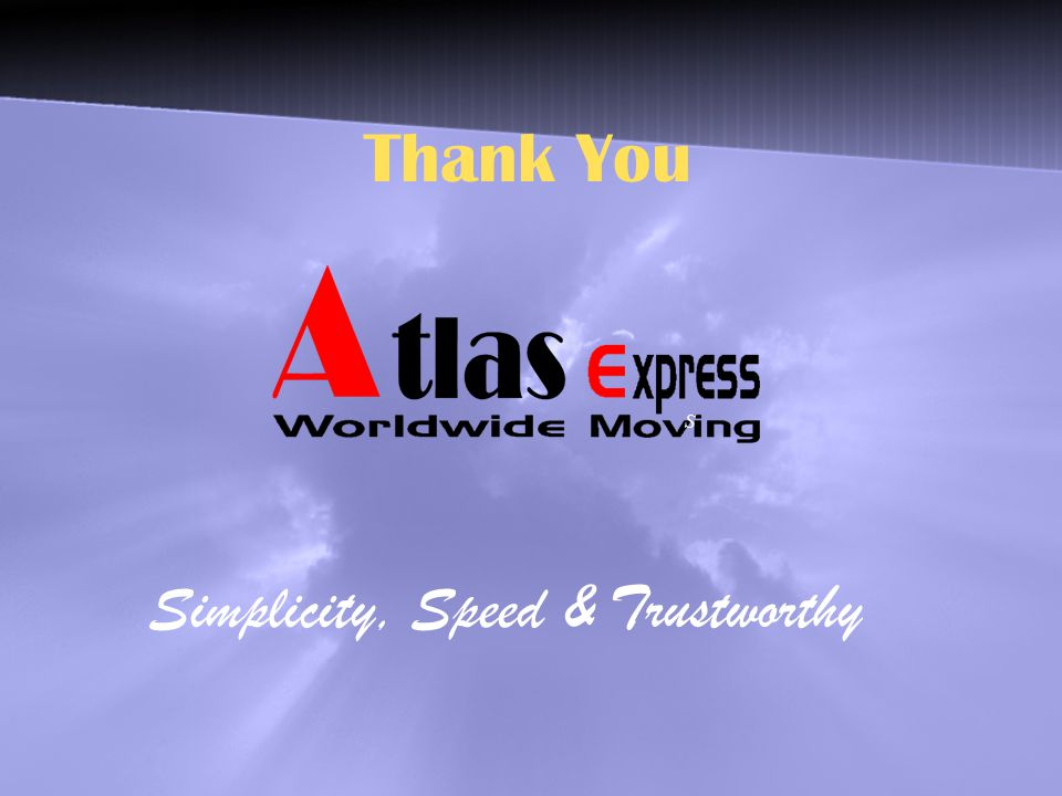Thank You S Simplicity, Speed & Trustworthy