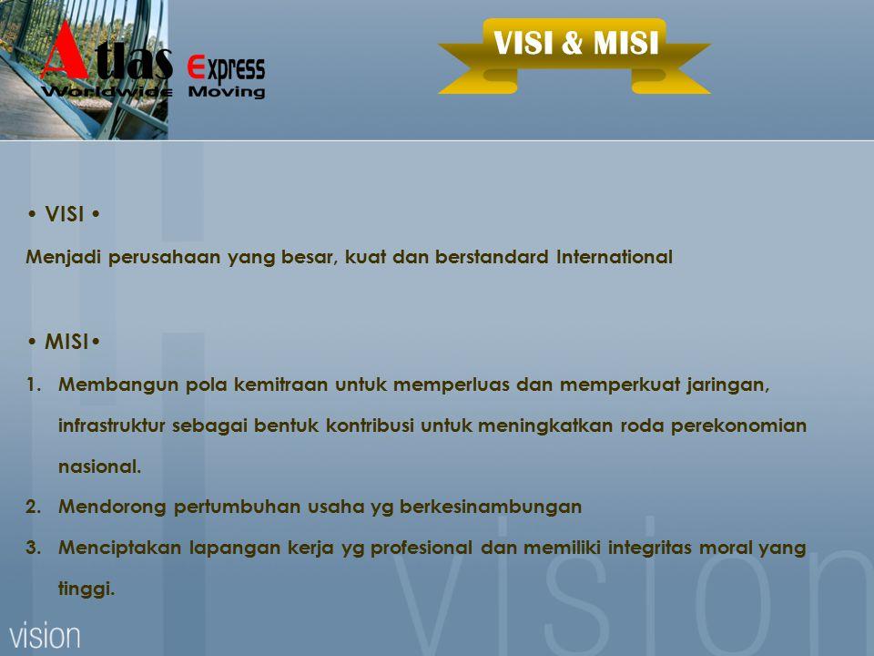 VISI & MISI • VISI • • MISI•
