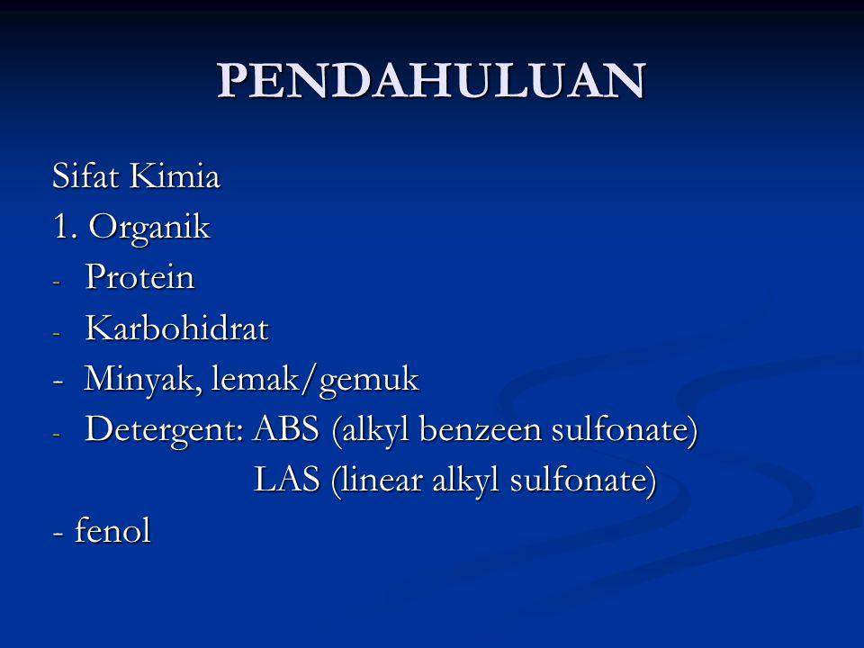 PENDAHULUAN Sifat Kimia 1. Organik Protein Karbohidrat