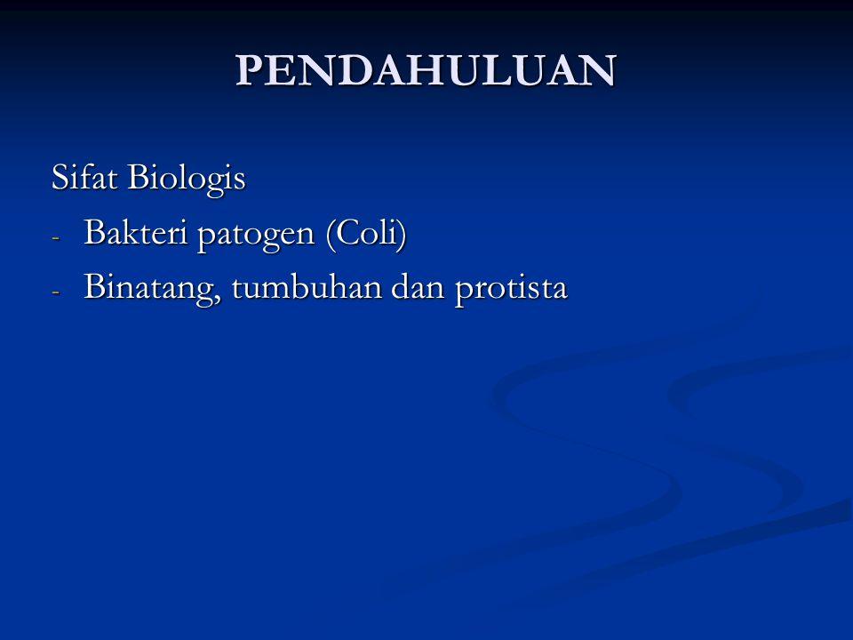 PENDAHULUAN Sifat Biologis Bakteri patogen (Coli)