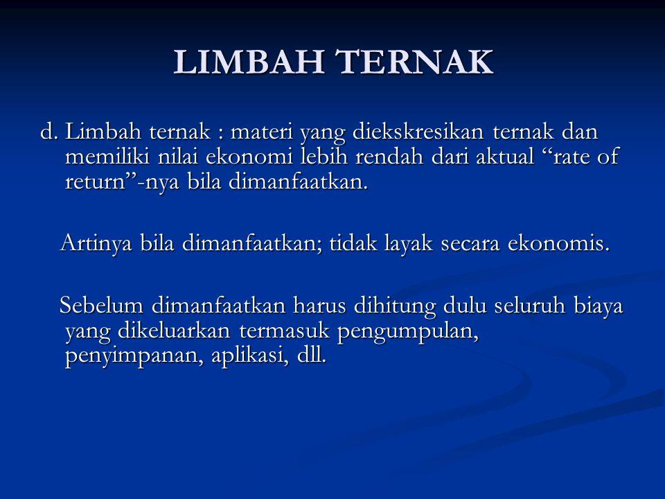 LIMBAH TERNAK