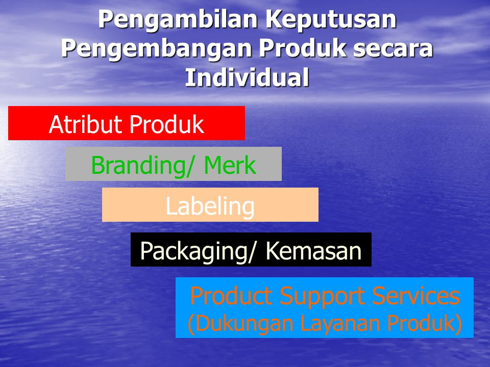 Pengambilan Keputusan Pengembangan Produk secara Individual