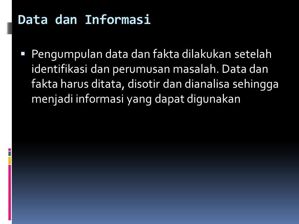 Data dan Informasi
