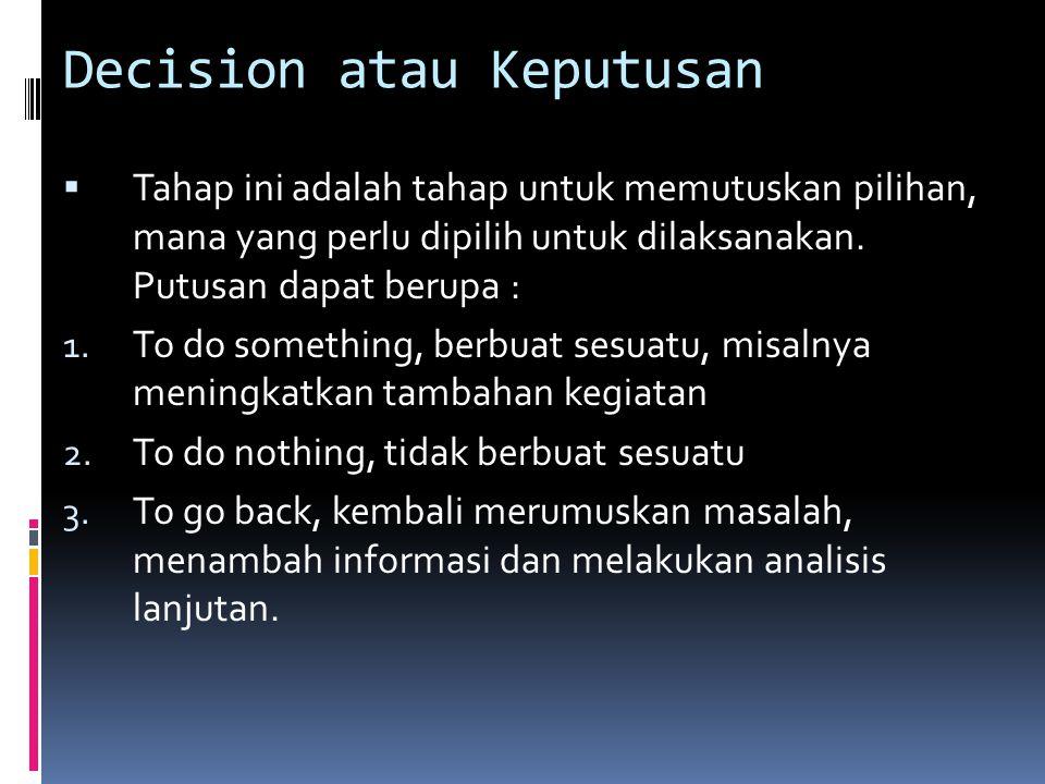 Decision atau Keputusan