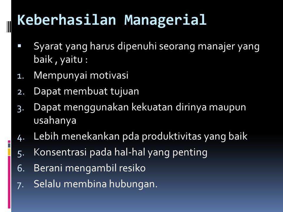 Keberhasilan Managerial