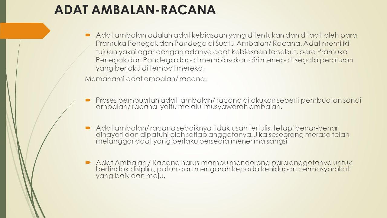 ADAT AMBALAN-RACANA