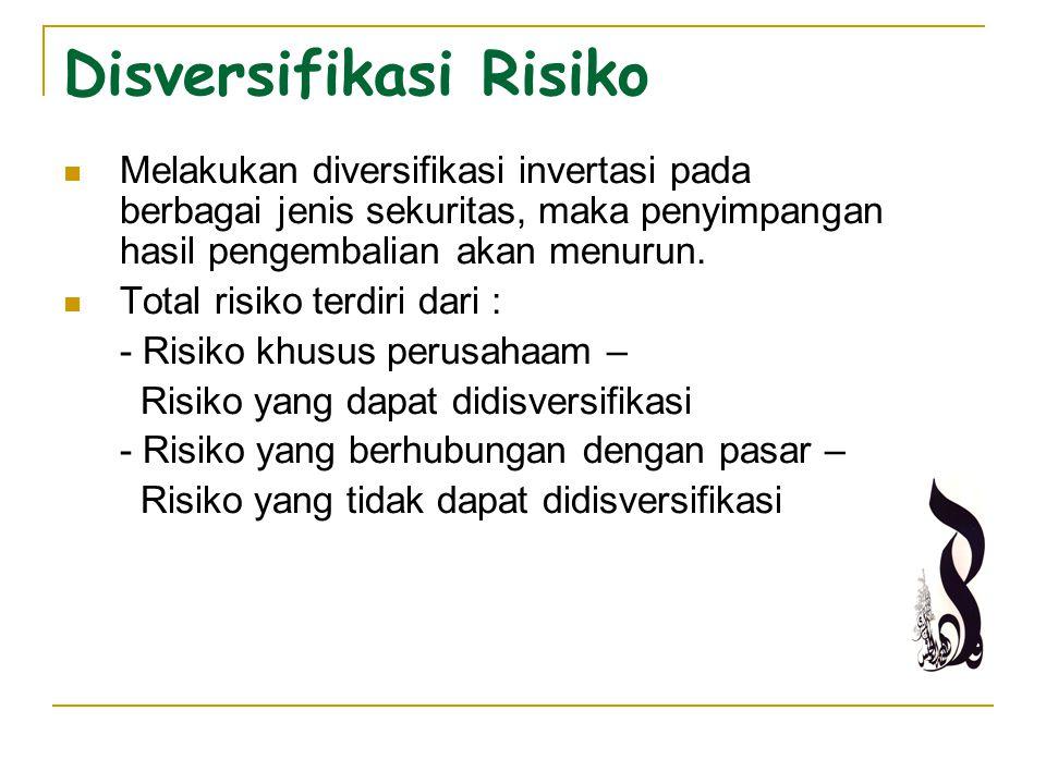 Disversifikasi Risiko