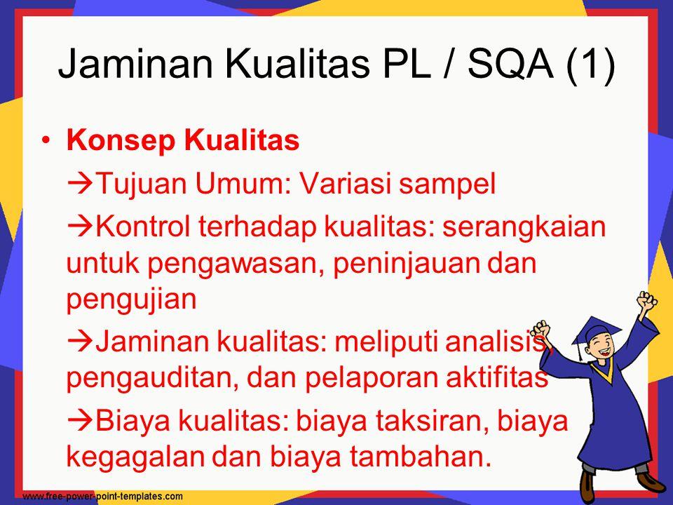 Jaminan Kualitas PL / SQA (1)