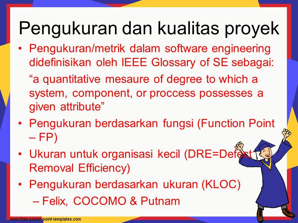 Pengukuran dan kualitas proyek