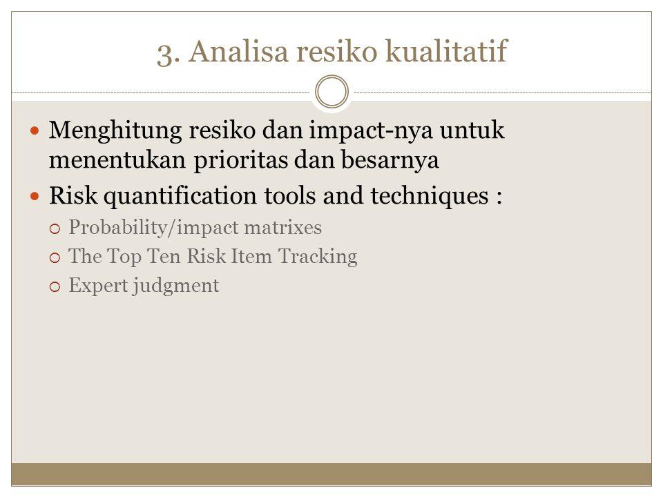 3. Analisa resiko kualitatif