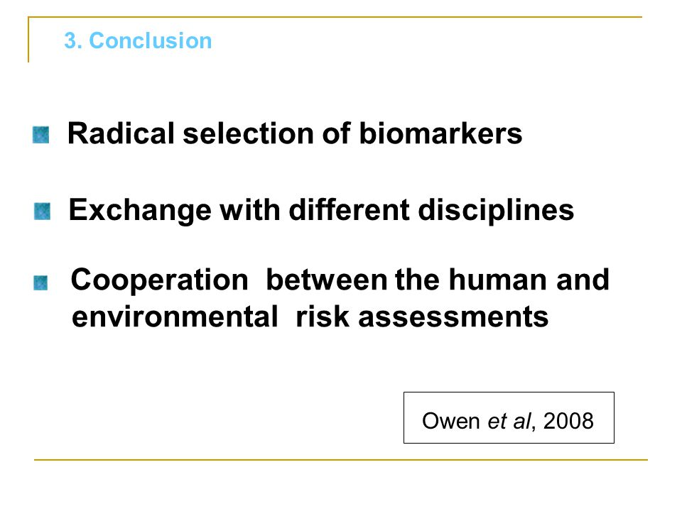 Radical selection of biomarkers