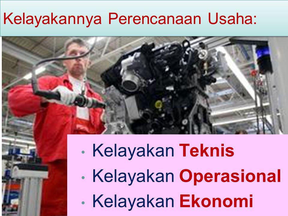 Kelayakan Operasional Kelayakan Ekonomi