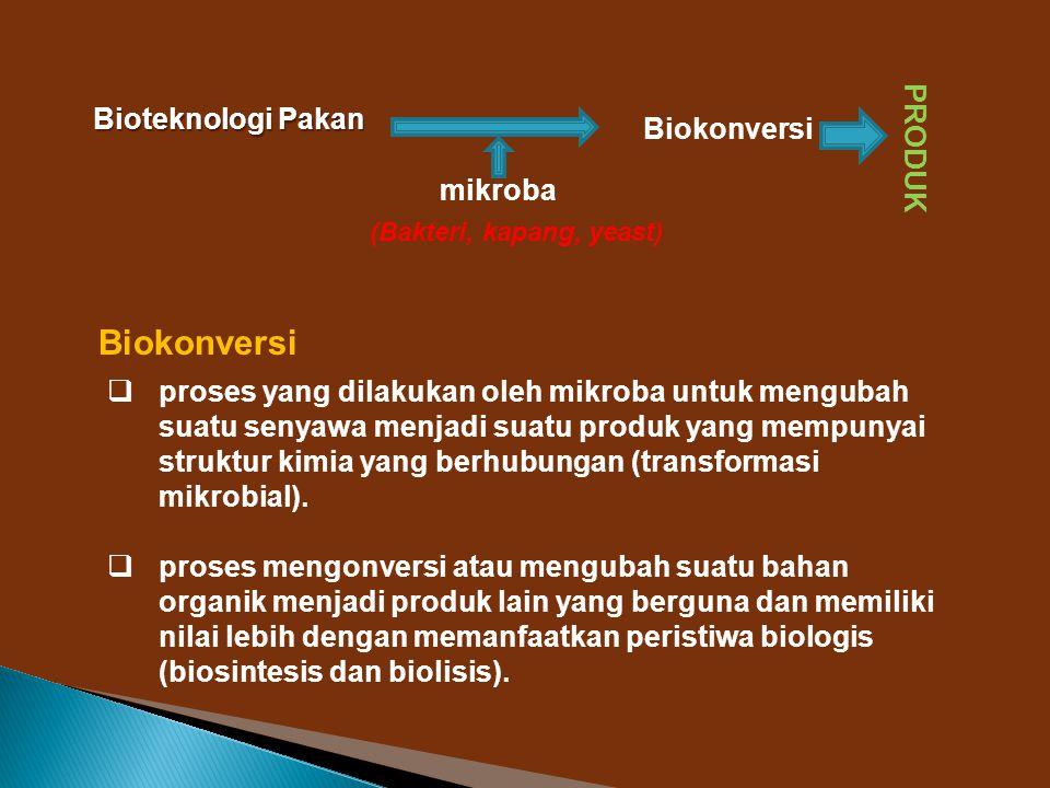 Biokonversi Bioteknologi Pakan PRODUK Biokonversi mikroba
