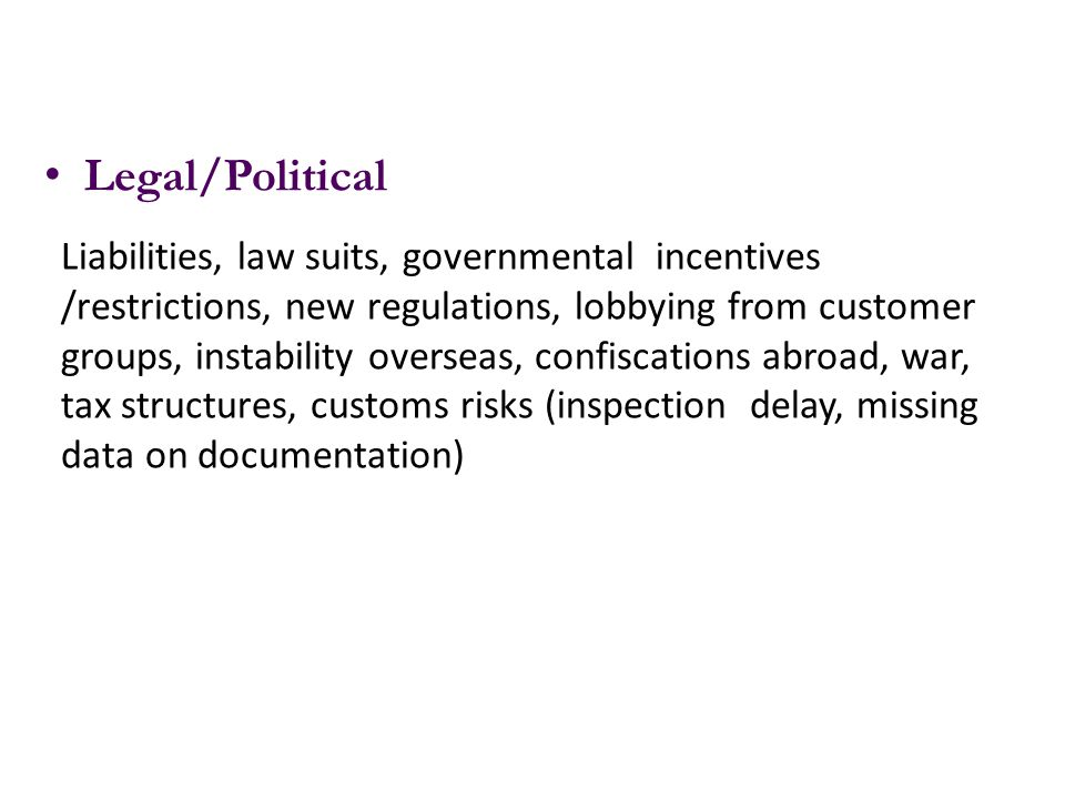 Legal/Political