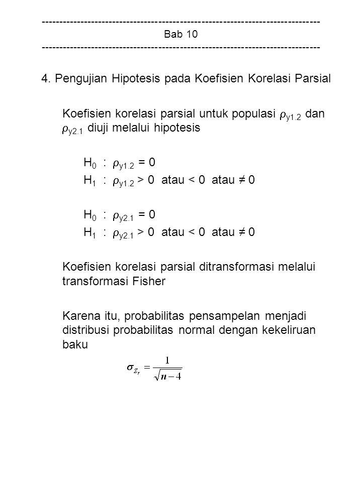 4. Pengujian Hipotesis pada Koefisien Korelasi Parsial