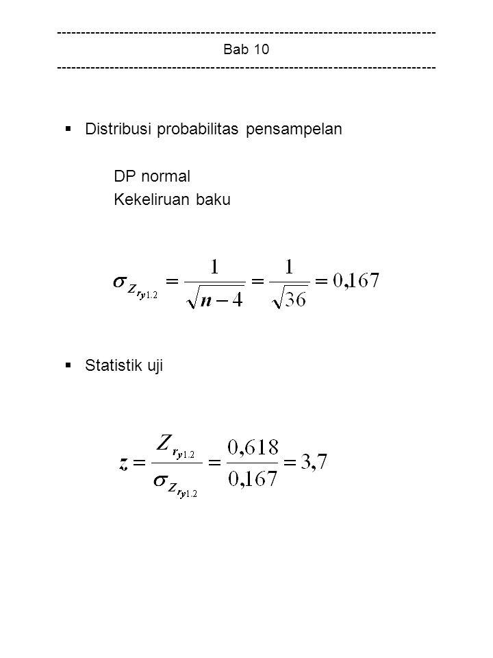 Distribusi probabilitas pensampelan DP normal Kekeliruan baku