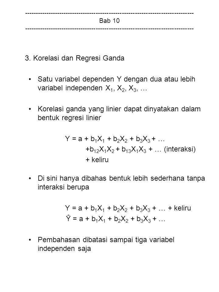 3. Korelasi dan Regresi Ganda
