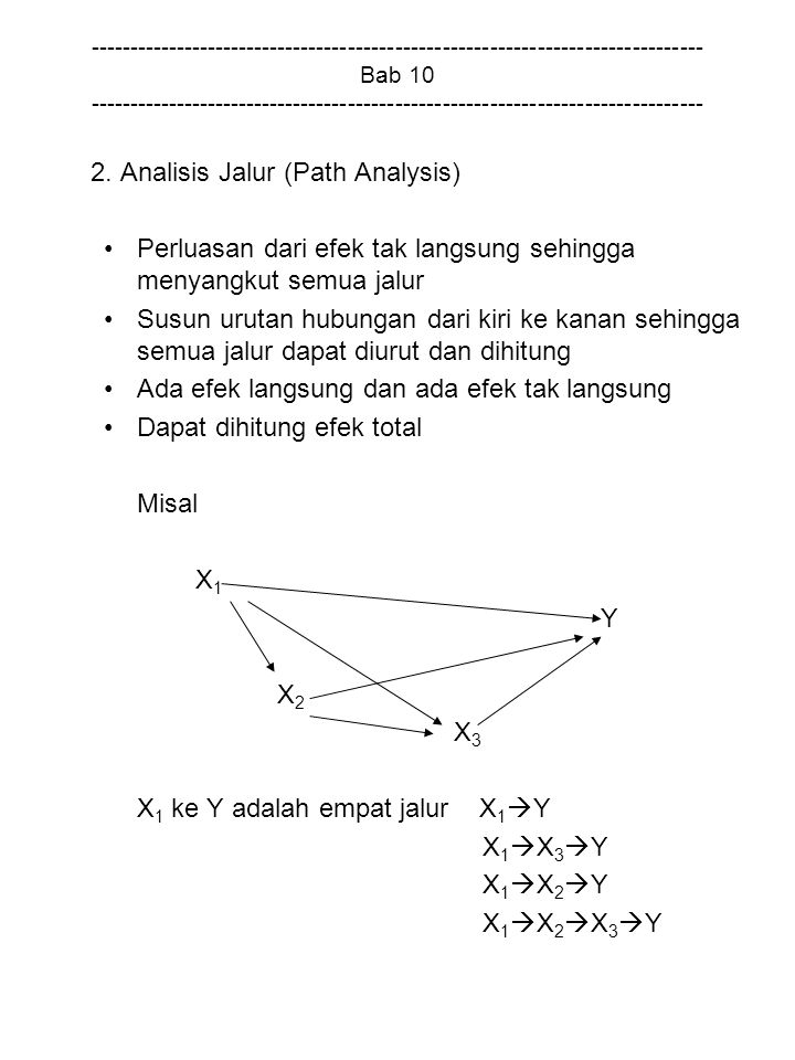 2. Analisis Jalur (Path Analysis)