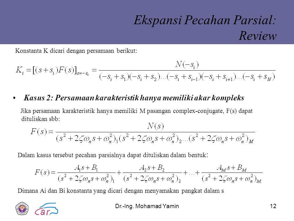 Ekspansi Pecahan Parsial: Review