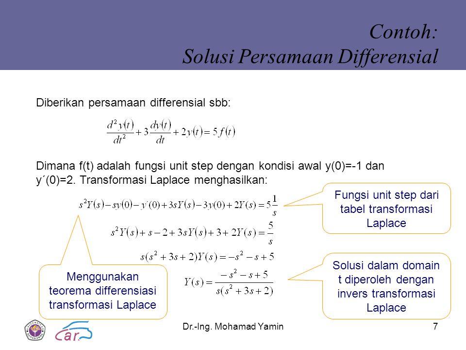 Contoh: Solusi Persamaan Differensial