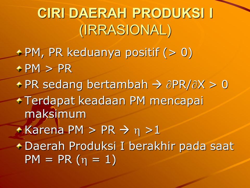 CIRI DAERAH PRODUKSI I (IRRASIONAL)