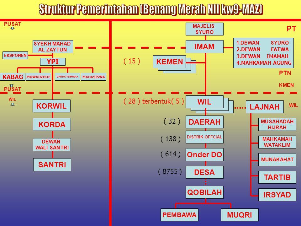 Struktur Pemerintahan (Benang Merah NII kw9-MAZ)