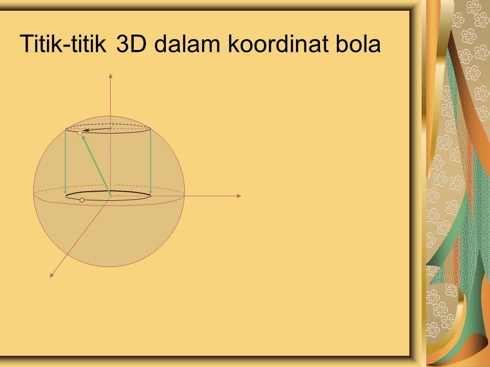 Titik-titik 3D dalam koordinat bola