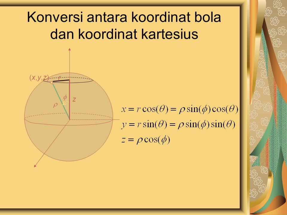 Konversi antara koordinat bola dan koordinat kartesius