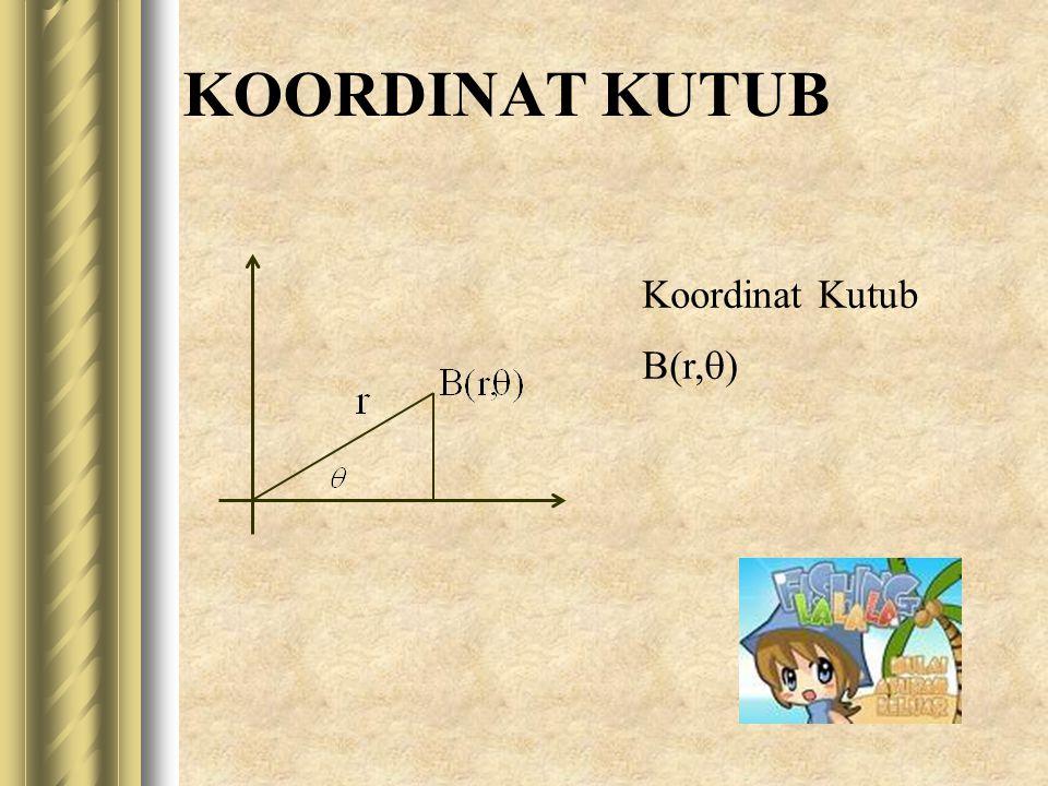 KOORDINAT KUTUB Koordinat Kutub B(r,q)