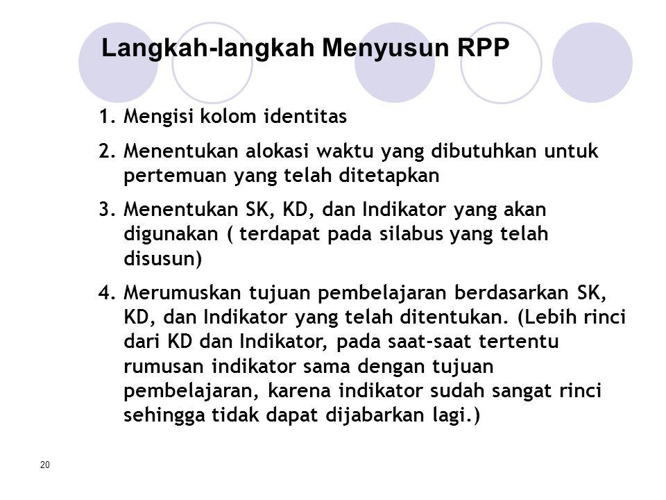 Langkah-langkah Menyusun RPP