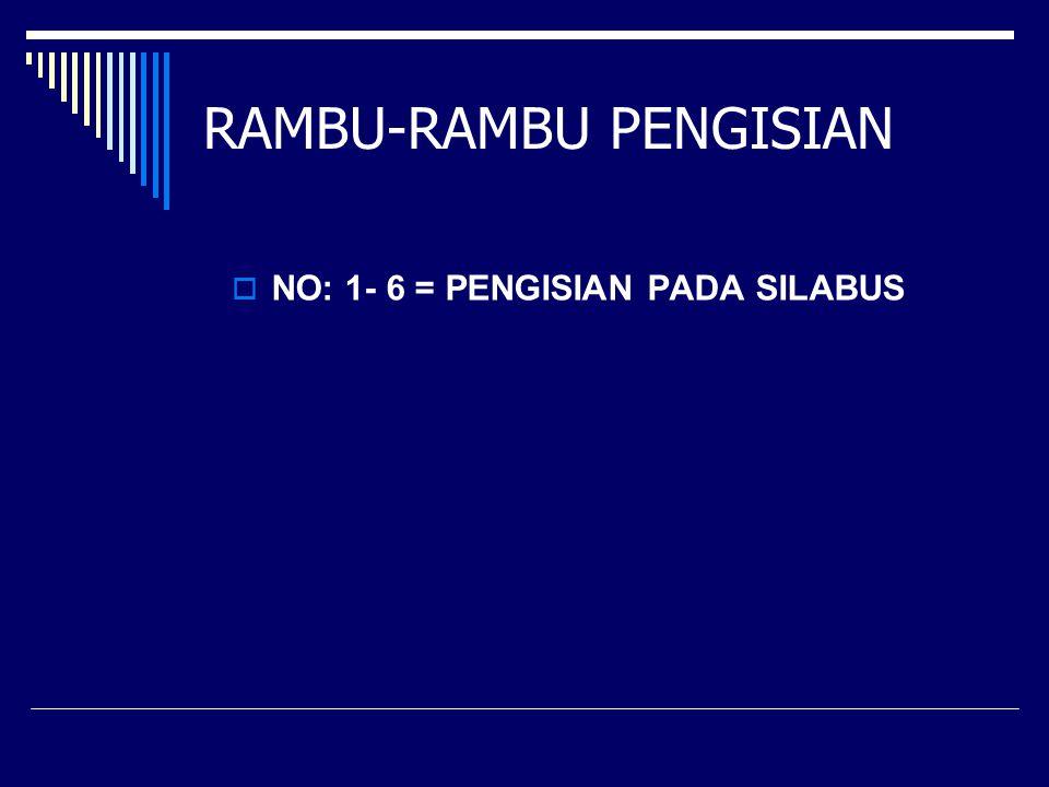 RAMBU-RAMBU PENGISIAN