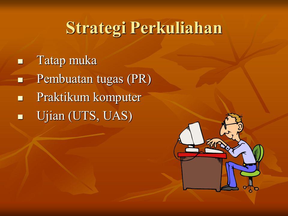 Strategi Perkuliahan Tatap muka Pembuatan tugas (PR)