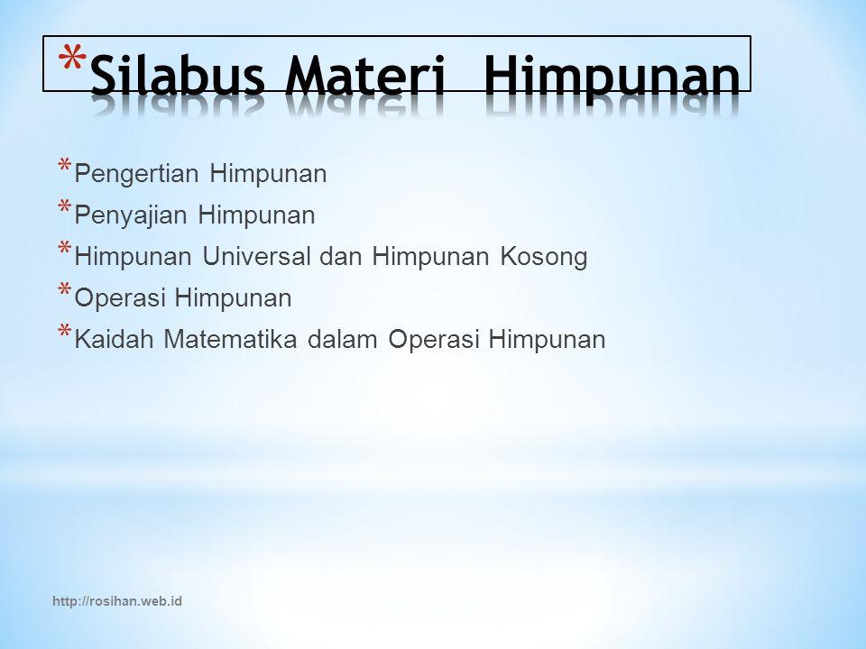 Silabus Materi Himpunan