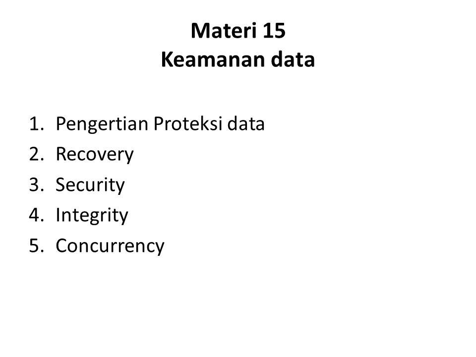 Materi 15 Keamanan data Pengertian Proteksi data Recovery Security