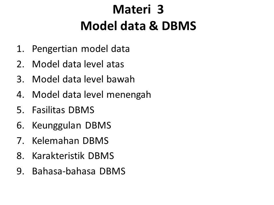 Materi 3 Model data & DBMS