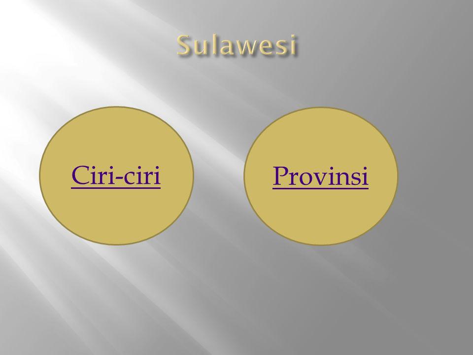 Sulawesi Ciri-ciri Provinsi