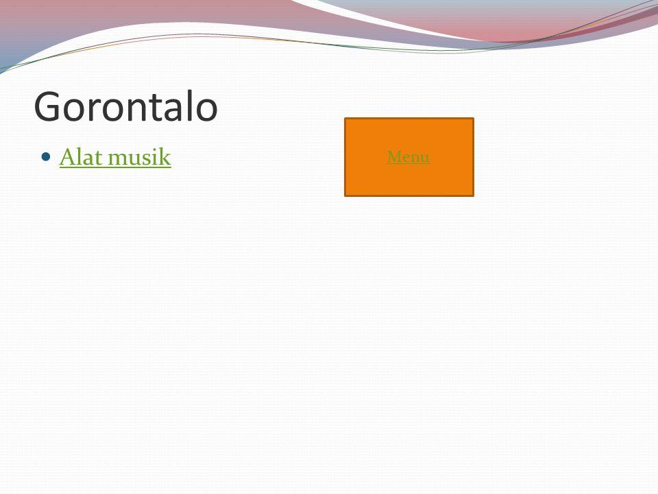 Gorontalo Menu Alat musik