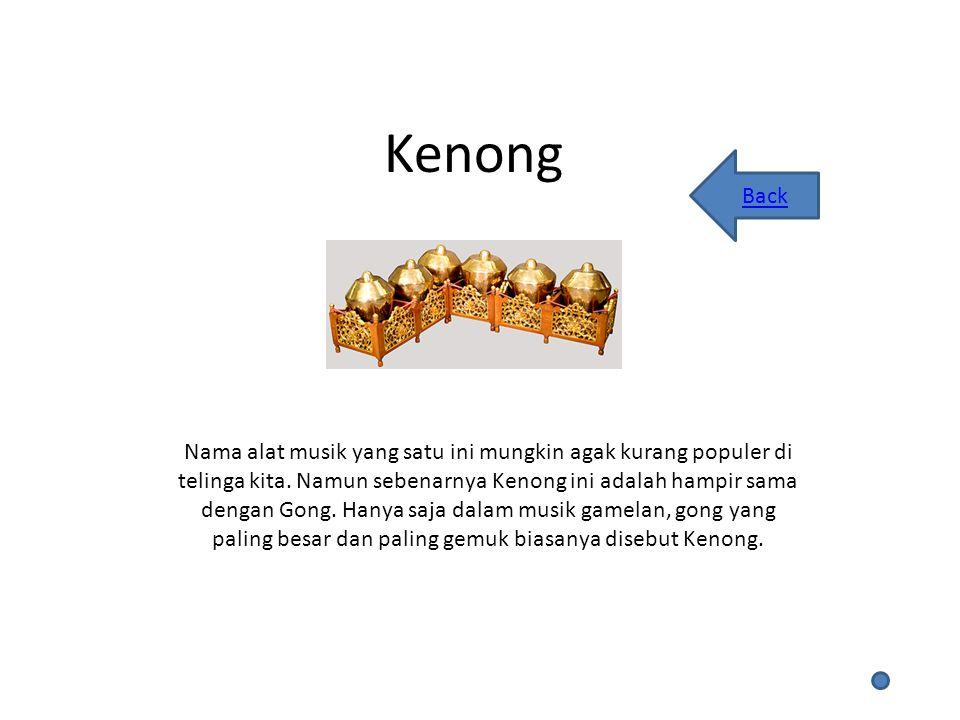 Kenong Back.