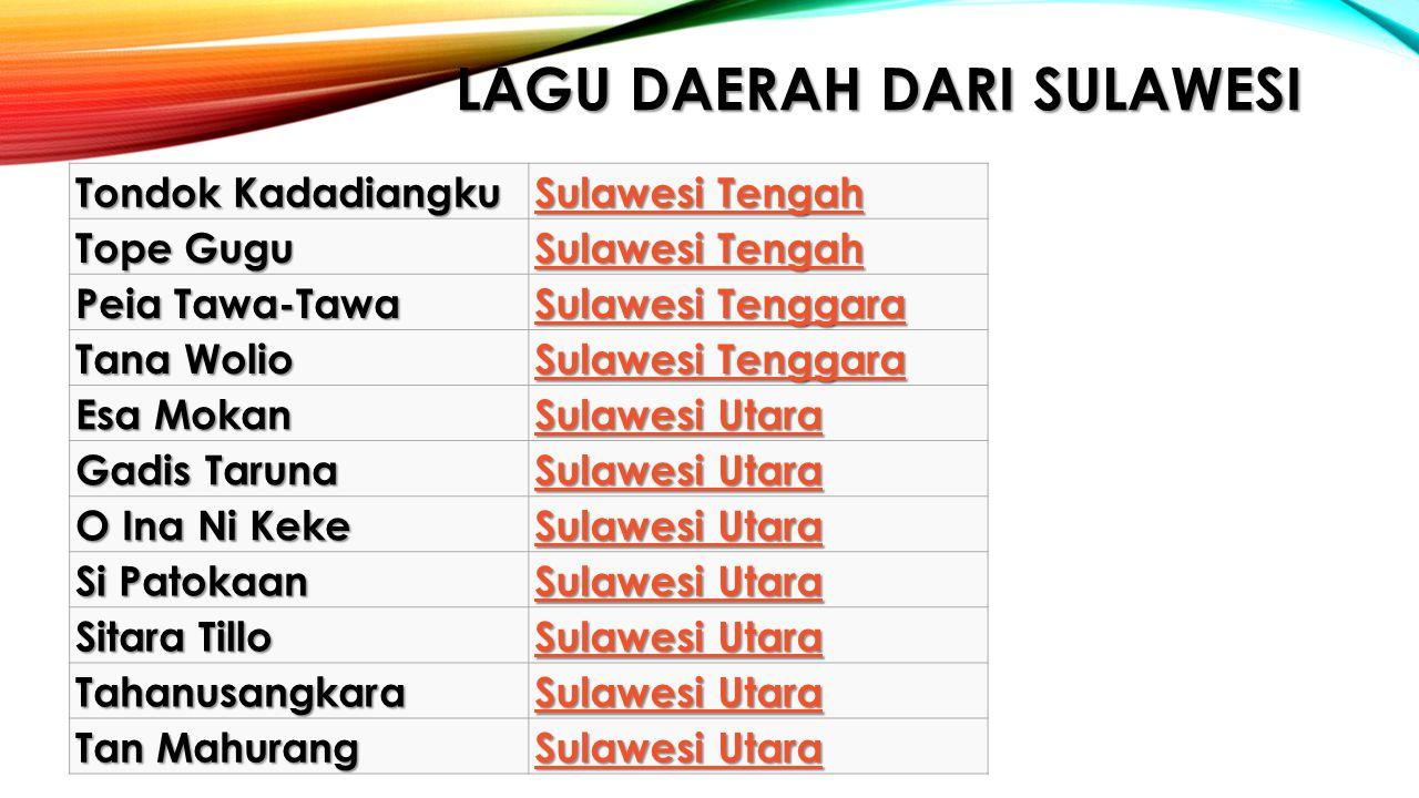 Lagu daerah dari sulawesi