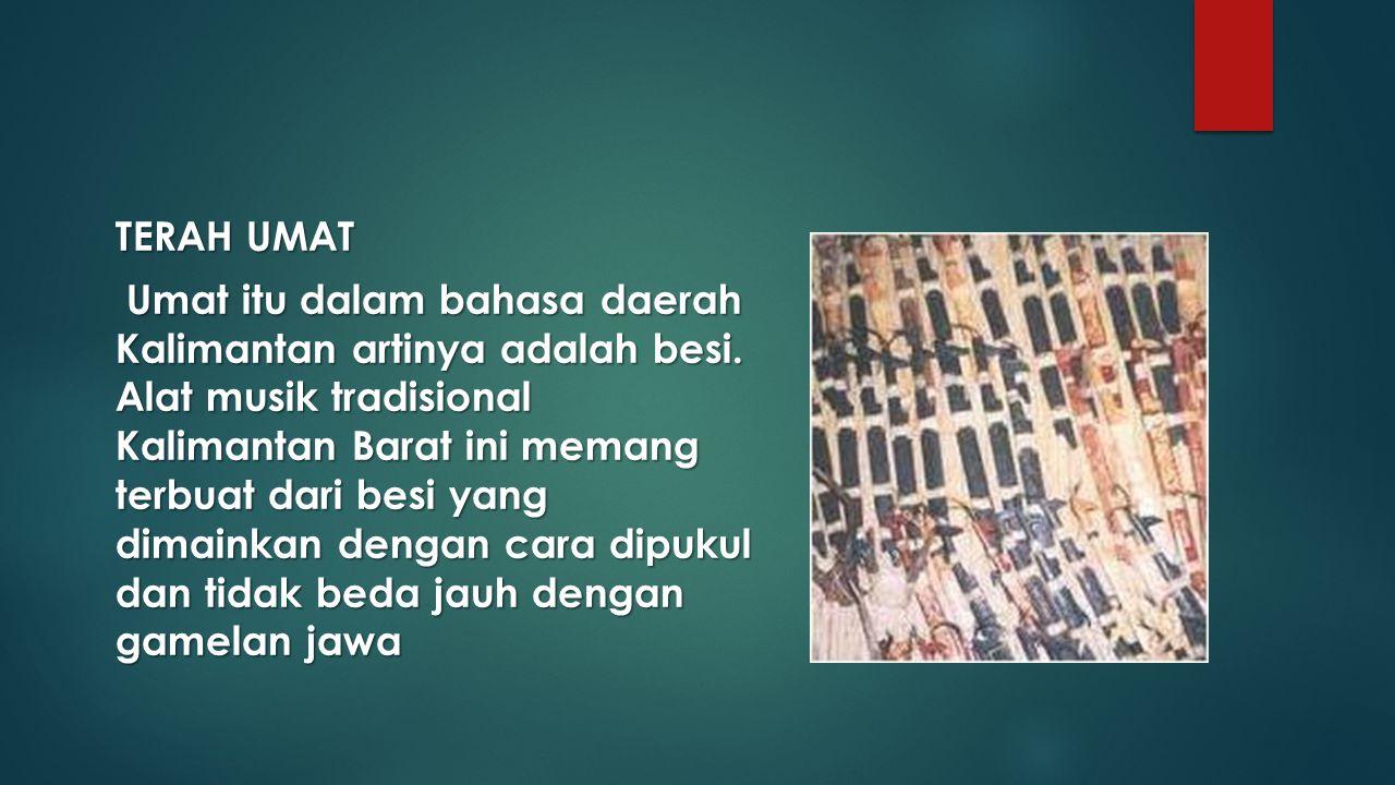TERAH UMAT Umat itu dalam bahasa daerah Kalimantan artinya adalah besi