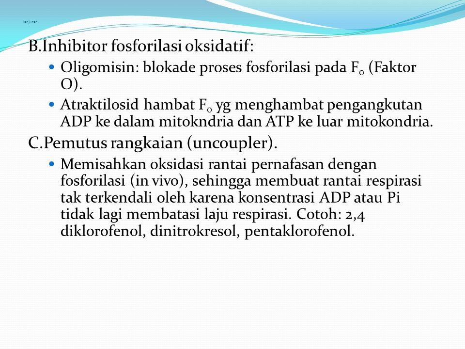 B.Inhibitor fosforilasi oksidatif: