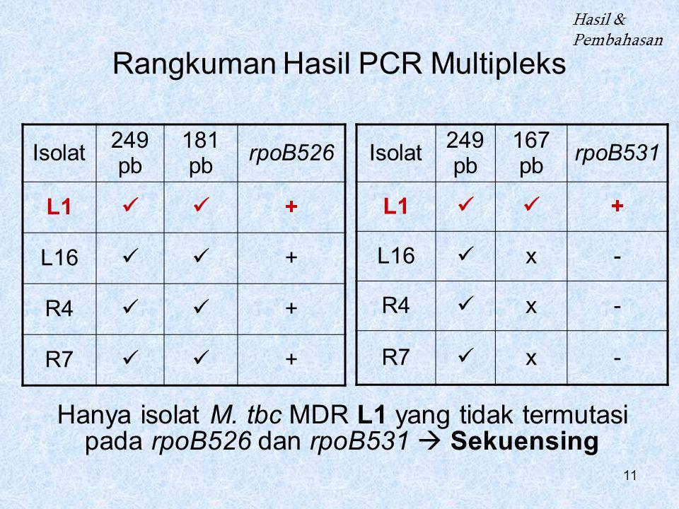 Rangkuman Hasil PCR Multipleks