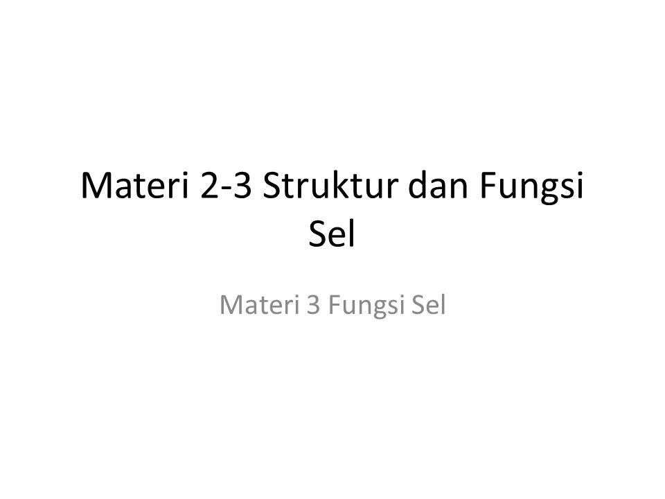 Materi 2-3 Struktur dan Fungsi Sel