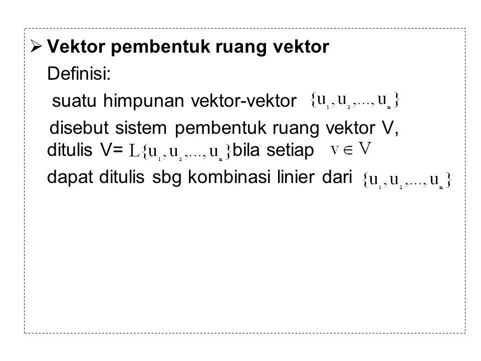 Vektor pembentuk ruang vektor