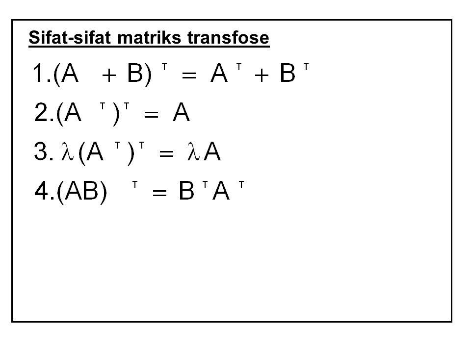 Sifat-sifat matriks transfose