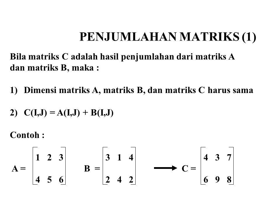 PENJUMLAHAN MATRIKS (1)