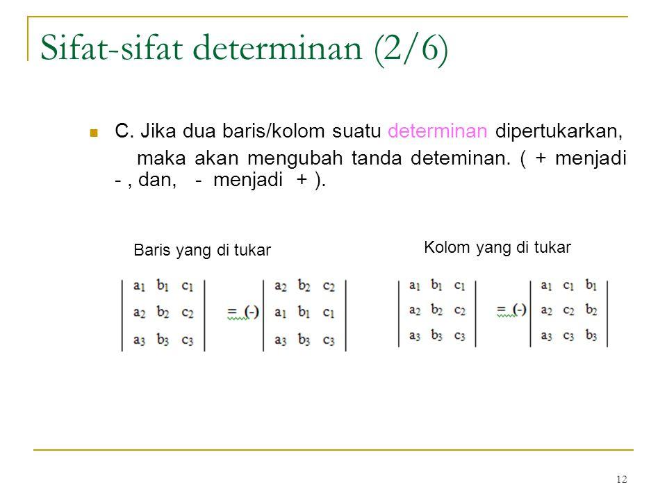 Sifat-sifat determinan (2/6)