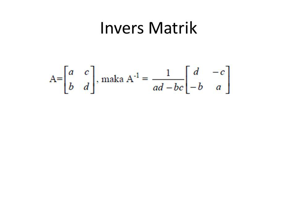 Invers Matrik
